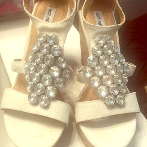 Brand new buckle wedges